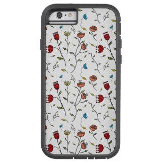 Motif coloré d'impression de fleurs d'épice coque tough xtreme iPhone 6