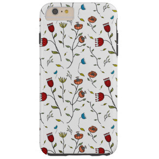 Motif coloré d'impression de fleurs d'épice coque iPhone 6 plus tough