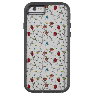 Motif coloré d'impression de fleurs d'épice coque iPhone 6 tough xtreme