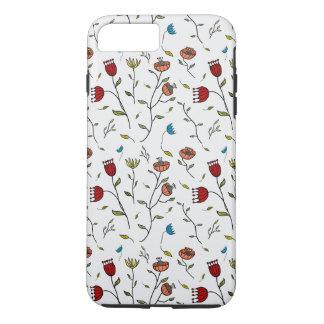 Motif coloré d'impression de fleurs d'épice coque iPhone 7 plus