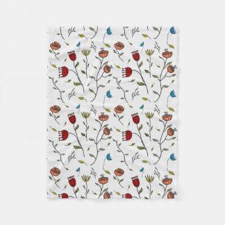 Motif coloré d'impression de fleurs d'épice couverture polaire