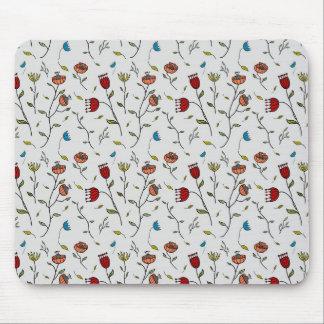 Motif coloré d'impression de fleurs d'épice tapis de souris