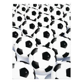 Motif de ballon de football prospectus 21,6 cm x 24,94 cm
