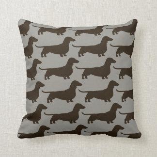 Motif de chiens de teckel coussin décoratif