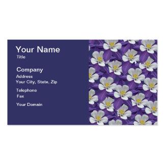 Motif de fleur de Columbine Carte De Visite Standard