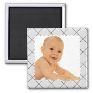 motif de gris magnet carré