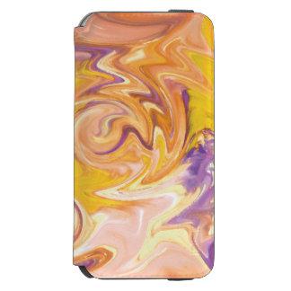 Motif de marbre coloré coque-portefeuille iPhone 6 incipio watson™