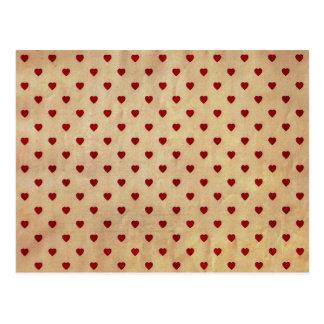Motif de papier vintage de coeurs de polka cartes postales