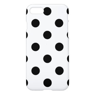 Motif de point noir et blanc de polka coque iPhone 7