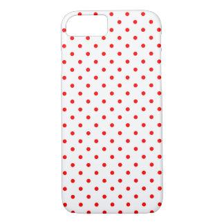 Motif de point rouge minuscule de polka coque iPhone 7