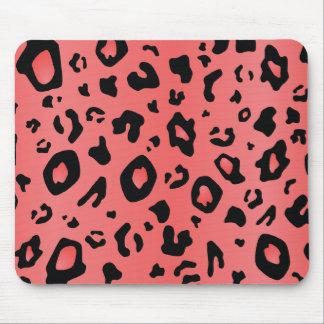 Motif d'empreinte de léopard - CORAL/PINK Tapis De Souris