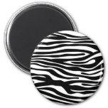 Motif d'impression de zèbre - noir et blanc magnets pour réfrigérateur