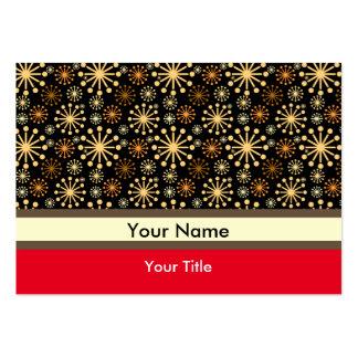 Motif d'or et argenté de flocons de neige carte de visite grand format