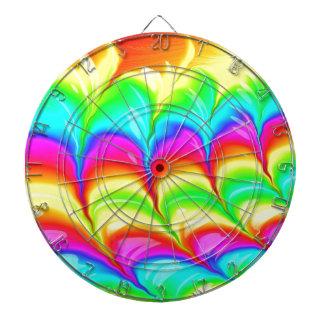 Motif du résumé 3D coloré par arc-en-ciel Jeu De Fléchettes