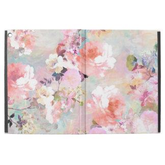 Motif floral chic d'aquarelle turquoise rose