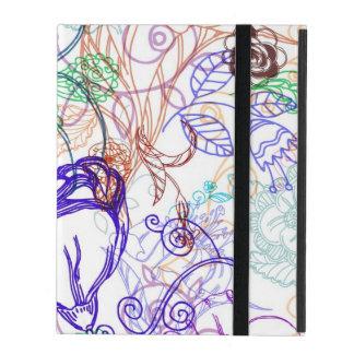 Motif floral coques iPad