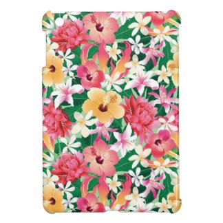 Motif floral de ketmie tropicale coque pour iPad mini