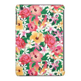 Motif floral de ketmie tropicale coques iPad mini