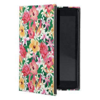 Motif floral de ketmie tropicale étuis iPad mini