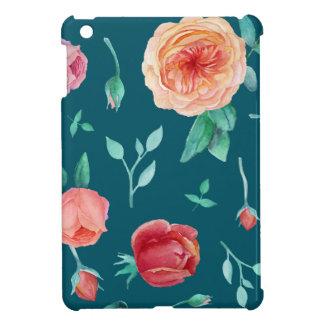 Motif floral de rose d'obscurité coques iPad mini