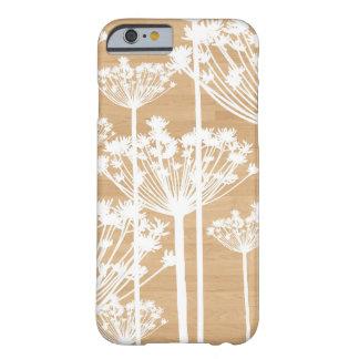 Motif floral girly de fleurs en bois de Faux Coque Barely There iPhone 6