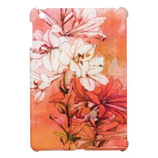 Motif floral orange étuis iPad mini