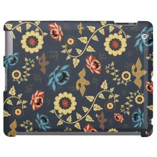 Motif floral oriental avec des oiseaux coque iPad