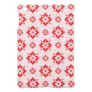 Motif floral rouge d'art coque pour iPad mini