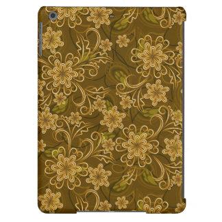 Motif floral vintage d'or coque iPad air