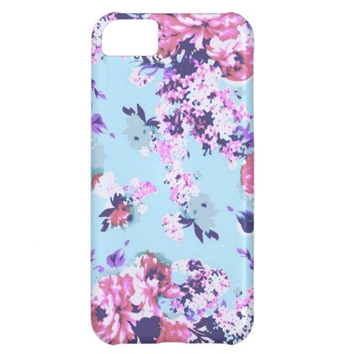 Motif floral vintage en pastel, iPhone 5c Coques Pour iPhone 5C