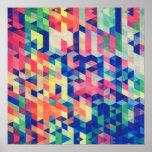 Motif géométrique abstrait de formes d'aquarelle
