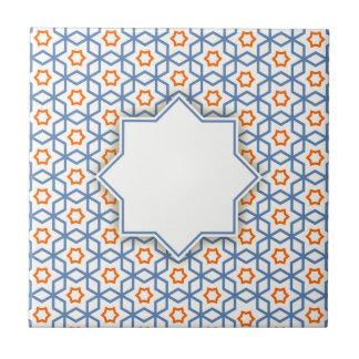 motif géométrique islamique petit carreau carré