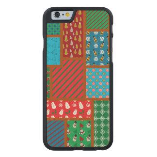 Motif laid de carré de Noël Coque Carved® Slim iPhone 6 En Érable