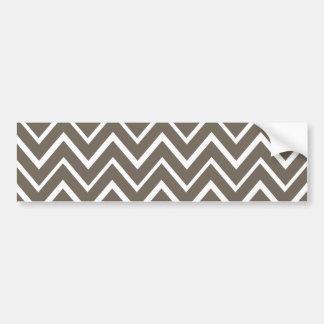 Motif lunatique gris de chevron de zigzag de Brown Autocollant De Voiture