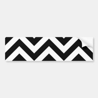 Motif noir et blanc de Chevron de zigzag Autocollant De Voiture