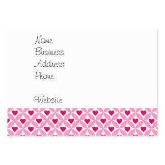 Motif rose et rouge de coeurs de Saint-Valentin