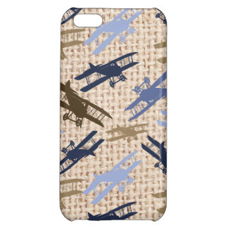 Motif vintage d'avion d'impression de toile de coque iPhone 5C