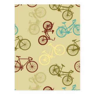 Motif vintage de vélo carte postale