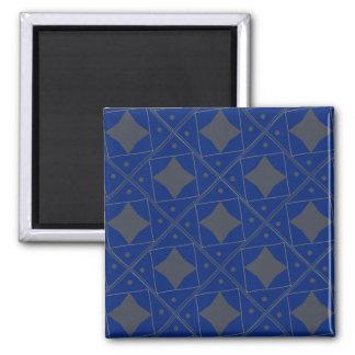 motifs de bleu et de gris aimants