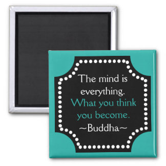 Motivierend Gedanken-Buddha-Zitat Quadratischer Magnet