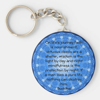 Motivierend Inspirational Buddha-Zitat Schlüsselanhänger
