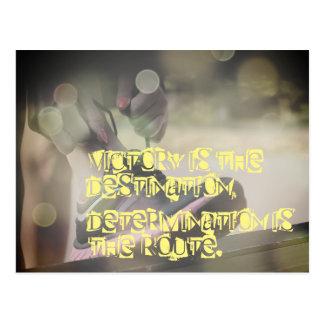 Motivierend Netball-Bild mit Slogan Postkarte