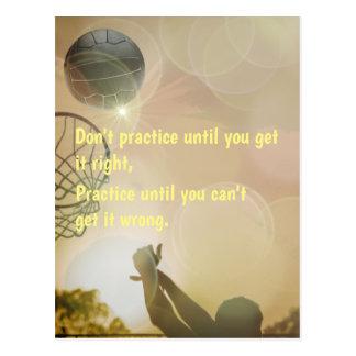 Motivierend Netball-Bild mit Zitat Postkarte