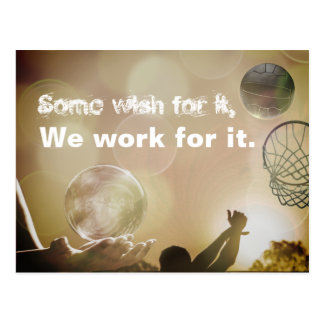 Motivierend Netball-Bild-Zitat Postkarte