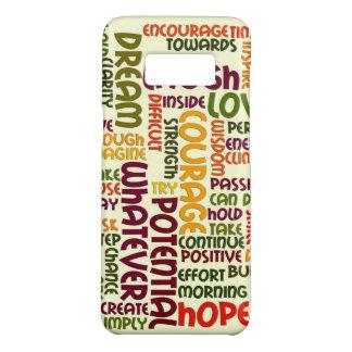 Motivierend positive Haltung der Wörter #1 Case-Mate Samsung Galaxy S8 Hülle