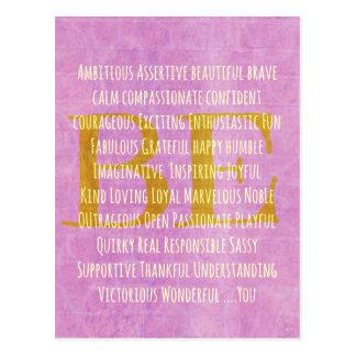 Motivierend seien Sie Sie Zitat Postkarte