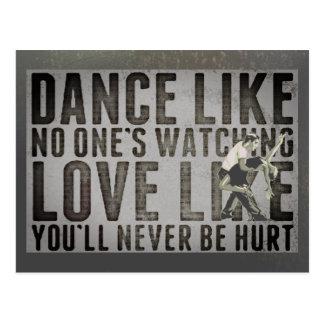 Motivierend Tanzen-Paar-Slogan Postkarte