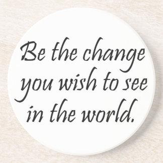 Motivierend Untersetzer inspirational Gandhi