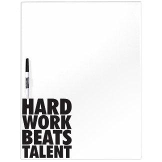 Motivierend Wörter - harte Arbeit schlägt Talent Memo Board