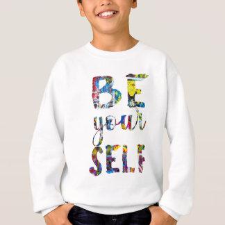 Motivierend Zitat ist sich Sweatshirt